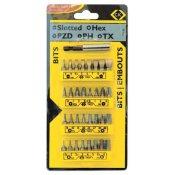 CK Tools T4520 Screwdriver Bit Set Slotted/PZ/PH/TX/Hex 33pc