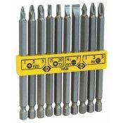 CK Tools T4525 Screwdriver Bit Set Long Slotted/PZ/PH/TX 10pc