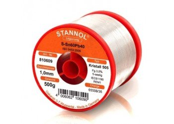Stannol 60/40 HS10 Solder Wire 0.9mm 500gm