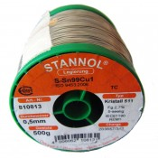 Stannol Sn99.3/Cu0.7 Crystal 511 Lead Free Solderwire 0.5mm 500gm