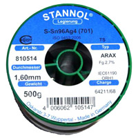 Arax cored solder wire