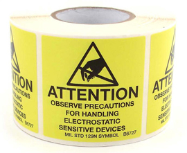 SCS Antistatic Warning Label 50x50mm