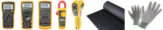 Fluke Test & Measurement, Conductive Floor Matting, Conductive Gloves