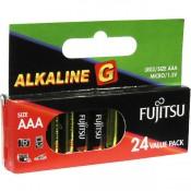 Fujitsu G AAA Size Alkaline Battery 24pk Blister