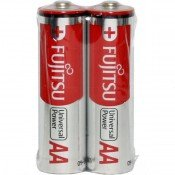 Fujitsu Universal Power AA Size Alkaline Battery 2pk Shrink