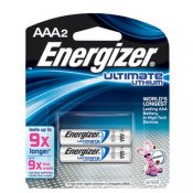 Energizer AAA Ultimate Lithium Battery Pk-2