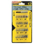 CK Tools T4520 Screwdriver Bit Set Slotted/PZ/PH/TX/Hex 33pc