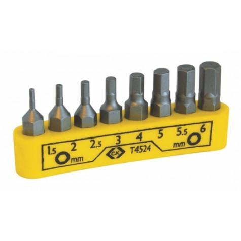 ck tools t4524 screwdriver bit set hexagon 8pc. Black Bedroom Furniture Sets. Home Design Ideas