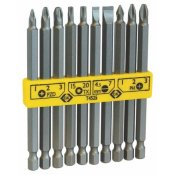 CK Tools T4525 Screwdriver Bit Set Long Slotted/PZ/PH/TX 10pc