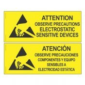 "Desco 06750 Attention Sign RS-471 English/Spanish 4"" x 10"""