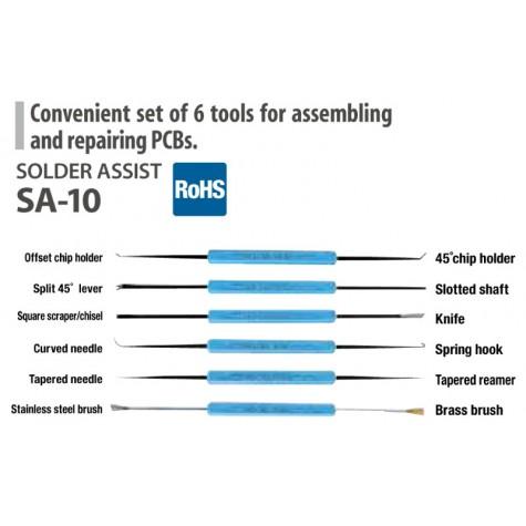 Goot SA-10 PCB Repair Tool Kit - 6 Piece