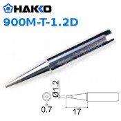 Hakko 900M-T-1.2D 1.2mm Chisel Soldering Tip