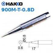 Hakko 900M-T-0.8D 0.8mm Chisel Soldering Tip