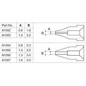 Hakko A1002 802/808/809 Desolder Nozzle 0.8mm Slim