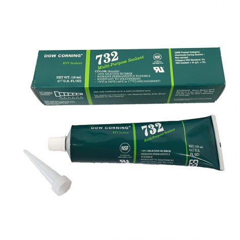 Dow Corning 732 Silastic Silicone Rtv Black 150ml Tube