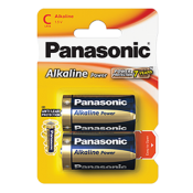 Panasonic C Size Alkaline Battery 2pk