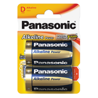 Panasonic D Size Alkaline Battery 2pk