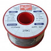 Multicore/Loctite 2% Silver Tin/Lead Crystal Solder Wire 0.35mm 250gm