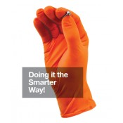The Glove Company Work Gear Orange Nitrile Gloves - Extra Large - box-100