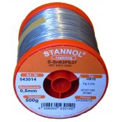 Stannol 63/37 HS10 Solder Wire 0.5mm 500gm