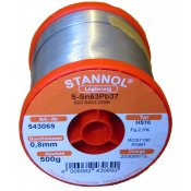 Stannol 63/37 HS10 Solder Wire 0.8mm 500gm