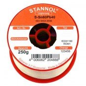 Stannol 60/40 Crystal Solder Wire 0.7mm 250gm