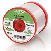 Stannol 60/40 Crystal 400 Solder Wire 0.5mm 500gm REL0