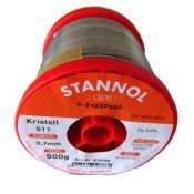 Stannol Solder Wire 60/40 Crystal 511 0.71mm 500gm