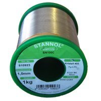 Stannol SN100C Crystal 400 Lead Free Solder Wire 0.8mm 1kg