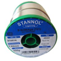 Stannol SN96/AG4 Arax Solder Wire 1.6mm 500gm