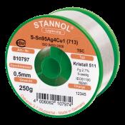 Stannol SAC305 Crystal 511 Lead Free Solder Wire 0.5mm 250gm