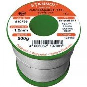 Stannol SAC305 Crystal 511 Lead Free Solder Wire 1.2mm 500gm